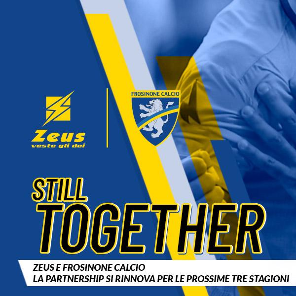 ZEUS E FROSINONE CALCIO; SI RINNOVA LA PARTNERSHIP